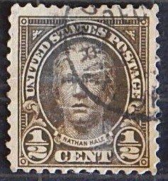 USA, Nathan Hale, 1/2 cent, (1617-Т)