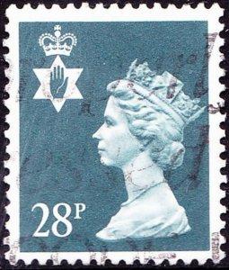 GREAT BRITAIN Northern Ireland 1991 QEII 28p Blue-Grey Machin SGNI63 FU