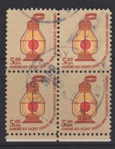 USA Sc#1612 Used Block of 4