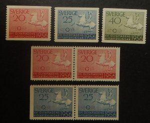 Sweden 487-91. 1956 Olympic Equestrian Competitions, NH