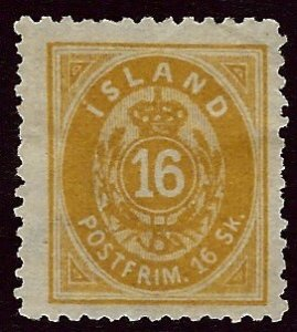Iceland SC#7 Unused NG F-VF SCV$150.00...Would fill a great Spot!