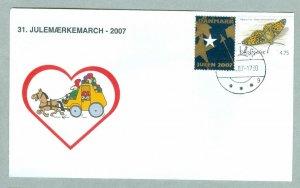 Denmark. Cover Cachet Mail Coach. # 31  Christmas Seals Walk 2007. Vaerlose.