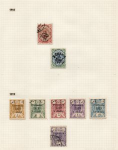 IRAN/PERSIA: 1918-1919 Used/Unused - Ex-Old Time Collection - Album Page (42791)