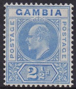 GAMBIA 1904 KEVII KEYTYPE 21/2D WMK MULTI CROWN CA
