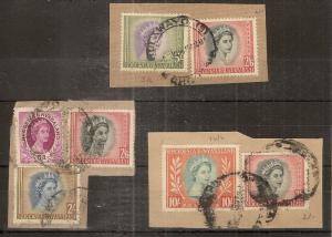 Rhodesia & Nyasaland 1954 Definitives High Values on Piece