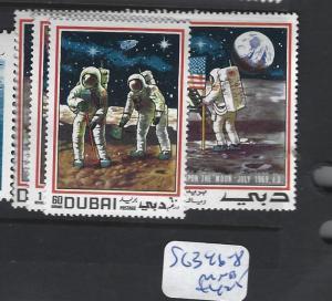 DUBAI (P1906B)   MOON  SG 346-8  MNH
