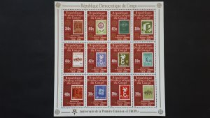 50th anniversary of EUROPA stamps - Congo - compl set of 12 in sheet ** MNH
