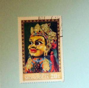 Mongolia - 617, CTO. Dancer's Mask. SCV - $0.30