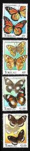 Tokelau-Sc#213-16-unused NH set-Butterflies-Insects-1995-