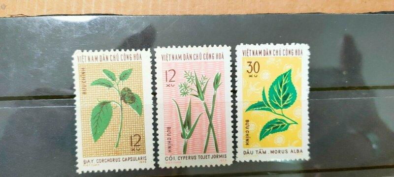 VIETNAM 1974  PLANTS FOR TEXTILE IN FINE MINT CONDITION.