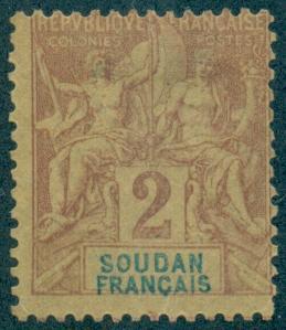 French Sudan #4  Mint  Scott $2.50   No Gum