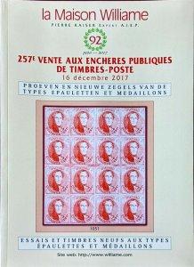 Auction Catalogue Poeven en Nieuwe Zegels van de Types EPAULETTEN et MEDAILLONS