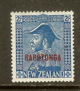 Cook Islands, Scott #74, Overprinted 2sh King George V, MH