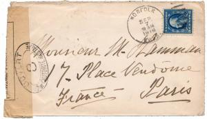 United States Connecticut Norfolk 1916 duplex  5c Washington Franklin to Fran...