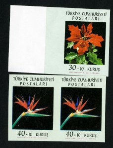 Turkey Stamps # B90-1 XF Imperforate w/ extra stamp OG NH