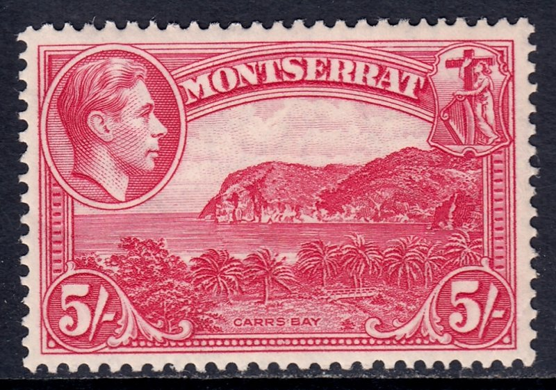 Montserrat - Scott #101a - P13 - MLH - Light crease LR corner - SCV $24.00