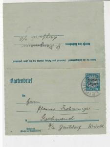 german 1920 used  stamps letter card ref 21080