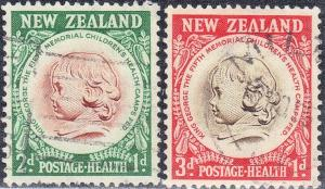 NEW ZEALAND SC# B47-48 USED  CHILDS HEAD  SEE SCAN