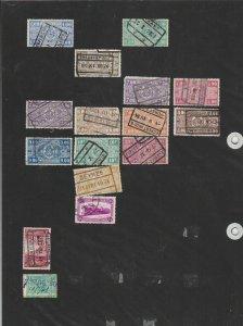 belgium railway parcel stamps ref 12023