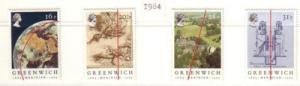 Great Britain Sc 1058-61 1984 Greenwich Meridian stamps NH