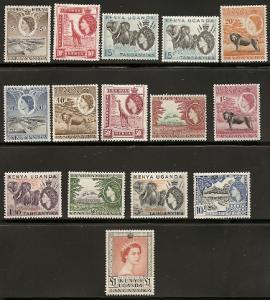 Kenya 103-17 1954-59 Definitive set NH