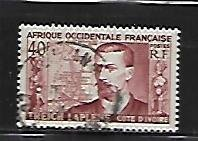 FRENCH WEST AFRICA, 58, USED, TREICH & MAP