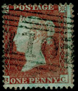 SG22, 1d red-brown PLATE 204, SC14 DIE I, FINE USED. Cat £110. BC