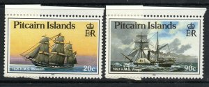PITCAIRN ISLANDS SG369/74 1990 SHIPS WITH CHANGED WATERMARK MNH