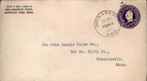 United States, Postal Stationery, U.S. R.P.O.'s, Minnesota, South Dakota
