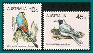 Australia 1982 Birds V Reprints, MNH 732a,736a,SG734a,SG737a