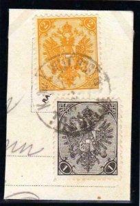 ÖSTERREICH BOSNIEN 1900. Zweiwährungsporto 2 Kreuzer + 1 Heller