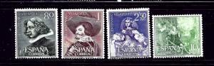 Spain 983-86 MH 1961 Velazquez Paintings