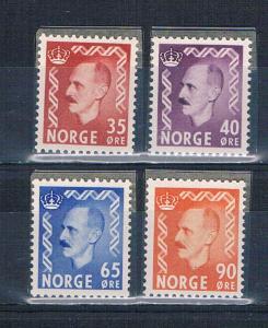 Norway 346;347;349;352 MNH King Haakon 1955 (N0702)