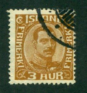 Iceland 1920 #109 U SCV(2020)=$17.50