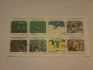 SCOTLAND ISLANDS SHEET USED SPORTS OLYMPIC GAMES