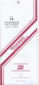 Showgard Stamp Mounts Size 74 / 240 CLEAR background Pack of 10