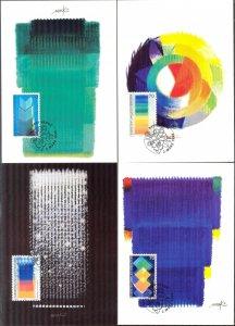 Liechtenstein 1998 Art  4 Maxi Cards FDC