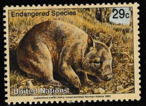 United Nations Endangered Species Hairy-nosed wmobat 29c single MNH 1993