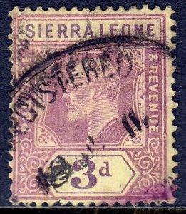 Sierra Leone - Scott #95 - Used - Pencil on reverse, stain - SCV $3.25