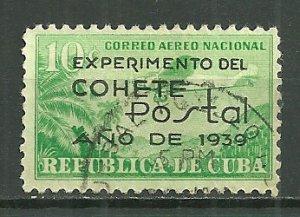 1939 Cuba C31 Experimeantal Rocket Mail used