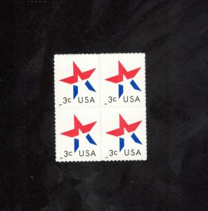 3613 Stars Block Of 4 Mint/nh (free shipping offer)