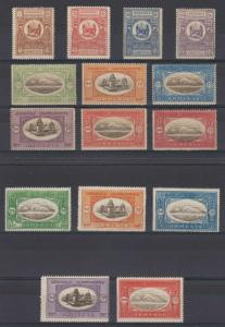 ARMENIA 1920 ISSUE 1R TO 100R TOP VALUE 15 STAMPS TOP VALUES IN DIFFERENT SIZES