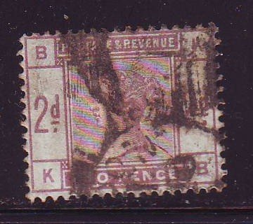 Great Britain Sc 100 1884 2d lilac Victoria stamp used