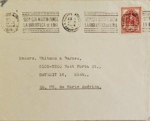 O) 1946 ARGENTINA, JOSE DE SAN MARTIN 5c carmin, FOUND THE FIRST LIBRARY