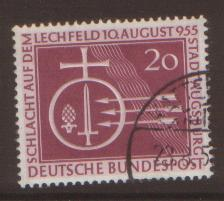 West Germany 1955 Lechfeld  SG 1142 fine used
