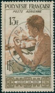 French Polynesia 1958 Sc#C24,SG13 13f Mother of Pearl Engraver FU