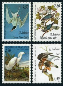 France 2462-2465,2465a,MNH. The Legacy of John J.Audubon,1995.Snowy egret,Pigeon