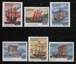 Togo 1905-10 Sailing Ships Mint NH