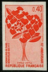 HERRICKSTAMP FRANCE Sc.# 1342 Imperf. Catalog Price €20 Mint NH