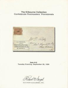 The Kilbourne Collection, Robert A. Siegel, N.Y., Sale 815, September 28, 1999